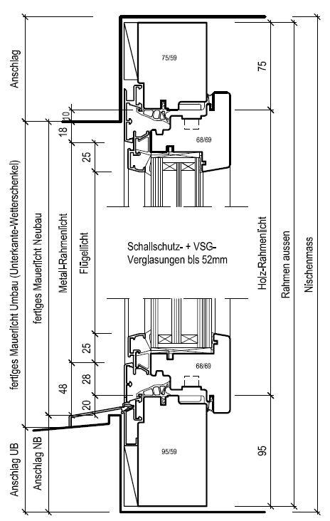 Holzbau detail fenster for Fensterdetail